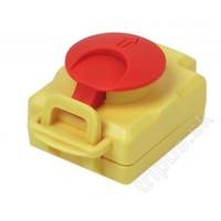 Stop-Tlačítko s aretaci na kompletní vypínače Tripus